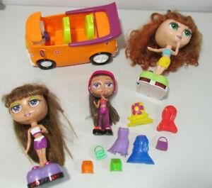 Mattel 1999 Diva Starz Interactive 3 Doll Lot - Car, Snap-On Clothes, Accessory
