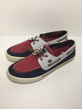 Sperry Top-Sider Bahama II Varsity STS21626 Red Blue Canvas Men's Size 12