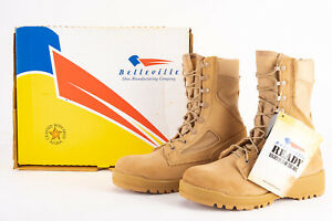 New Belleville 390 Size 6W Tan Temperate Climate Combat Boots US Military Issue