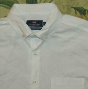 VINEYARD VINES White Long Sleeve Button Down Murray Shirt Classic Fit Large L
