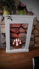 Colonne à flamme cheminée électrique éclairage flamme inox 30cm Firebox