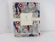 Pottery Barn Kids Captain America Duvet Cover Twin Gray #7091
