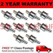 "10 X 8MM 5/16"" ONE WAY ALUMINIUM NON RETURN CHECK VALVE PETROL DIESEL OIL WATER"