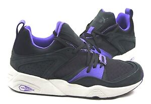 Puma Blaze of Glory Trinomic 357772-01 (Crackle Black/ Purple) Men's Sizes: 8~10