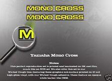 YAMAHA MONOCROSS SWINGARM DECAL GRAPHIC LIKE NOS