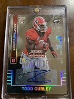 2015 Panini Contenders Todd Gurley Rc Bowl Ticket #146 Refractor Auto 16/99