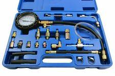 Comprobador de presión bomba de combustible conjunto de herramientas coche furgoneta LCV desde 0-145 Psi Gasolina Diesel Schrader