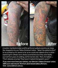 Tattoo Reviver Cream. Restores Repairs Enhances. Australia's Number 1 Aftercare.