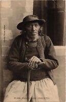 CPA Folklore - Bretagne - Vieillard d'Elliant - Etude de Tete (773213)