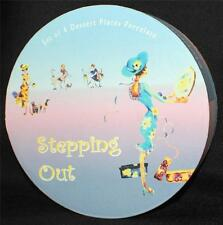 "New In Box I. GODINGER Porcelain STEPPING OUT Set of 4 7 1/2"" Desert Plate #9463"