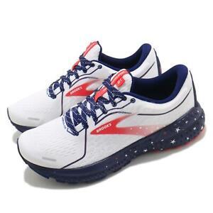 Brooks Adrenaline GTS 21 Run USA White Blue Red Women Running Shoes 1203291B-166