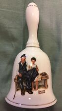 "1985 Norman Rockwell ""The Light House Keeper's Daughter"" Ceramic Gold Trim Bell"