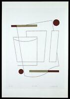"""Carla BADIALI - """"Composizione"""" (tavola 3), 1983 - Serigrafia, 33 x 48 cm"""