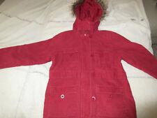 Jacke cord rot Mädchen 128 mit Mütze