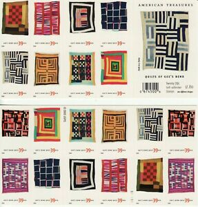 """QUILTS OF GEE""""S BEND STAMP BOOKLET -- USA #4098b 39 CENT DOUBLE-SIDED"""