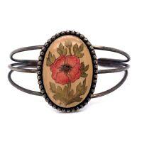 VTG Estate Sterling Silver Flower Artisan Hand Crafted Cuff Bracelet! 79