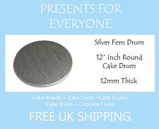 """5 x 12"""" Inch Round Wedding Birthday Cake Drum / Board 12mm"""