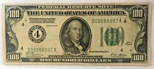"1928 $100 FEDERAL RESERVE NOTE~~DISTRICT 4 (CLEVELAND)~~""GOLD ON DEMAND"" CLAUSE"