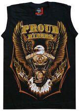Muskel Shirt Achselshirt Gr.S, Proud Riders Adler,Indianer Motorrad Biker Triker