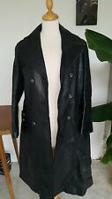 trench impermeable manteau cuir vintage t 44 cm