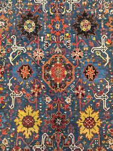 Antique Used Old  Handmade Karabagh Rug,Carpet,Wool&Wool,Size:16.40 By 10.27 Ft