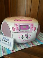 Hello Kitty CD/Cassette Player Boombox Stereo Radio Cassette ☆ EXCELLENT COND!