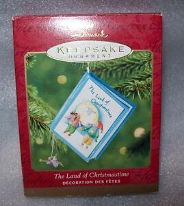 2001 HALLMARK KEEPSAKE CHRISTMAS ORNAMENT- THE LAND OF CHRISTMAS IN BOX