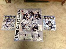 2 1998 BOLT San DIEGO CHARGERS magazine Poster Jr. Seau Fletcher NFL