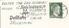 Germany Hitler Head 5p Definitive FDC 1941 Drucksache Postcard No Message 6y