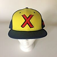 Marvel Comics X Baseball Hat Cap 59 Fifty New Era 7 3/4 Blue Yellow Red