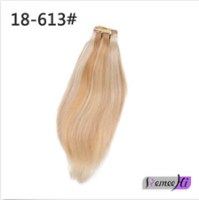 """16""""~28"""" 140g~260g 100% remay human hair half wig for 3/4 head easy use all color"""