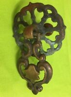 Antique bronze drop bail drawer pull cabinet swing handle # 7528 Small AS IS