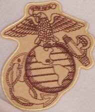 USMC MARINE CORPS EMBLEM MILITARY VETERAN EMBROIDERED MOTORCYCLE MC PATCH M-28