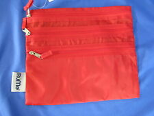 New RUME BAGGIE ALL Solid Red PACKABLE LIGHTWEIGHT TOTE CASE Organizer BAG ZIP