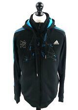 ADIDAS Mens Hooded Jacket L Large Black Polyester London Olympics 2012