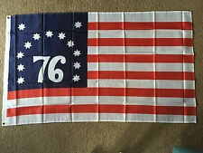 Bennington 76 flag 3 X 5 ft. polyester 2 Grommet holes one side