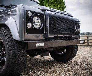 Land Rover Defender Stainless Steel Twin Flush LED Front Bumper - Uproar 4x4