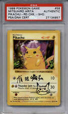 Pikachu Red Cheeks Sketch PSA/DNA AUTOGRAPH #58/102 Mitsuhiro Arita Shadowless