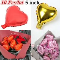 10Pcs/Lot Small Romantic Heart Balloons Aluminum Foil Wedding Party Flower Decor