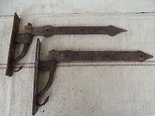 N8974 Sehr alte Türbänder ~ Schmiedeeisen ~ um 1800 ANTIK Beschläge Torbänder