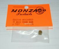 1960's Custom Brass Pinion Gear 7 Tooth 48 Pitch .078 shaft NOS Slot Car Monza