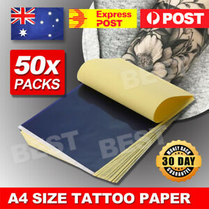 50x Tattoo Stencil Transfer Paper Spirit Thermal Carbon Tracing Copier Kit
