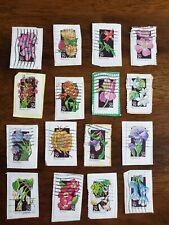 Lot of 16 1992 29c US Stamps Used WILDFLOWERS 16 Varieties of flowers