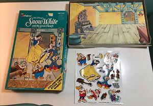 Colorforms Set Disney's Snow White and The Seven Dwarfs Play Set 1993 Complete