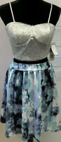 Honey and Rosie Blue Dress Size 5 Women's Fit-flare Pastel Color Straps NWT