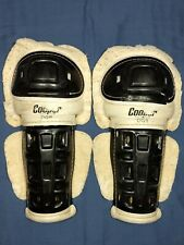 "Vintage Cooper Dg8 Hockey Shin Guards ~15"" Made in Canada"