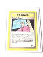 BLAINE'S QUIZ #2 - Gym Challenge  111/132 Trainer Uncommon - Pokemon Card - NM
