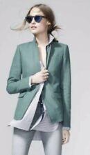 J CREW Sz 2 sage Green Linen Regent Blazer Jacket B8430