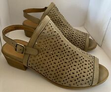 Euc Lucky Brand Kids Bardolph Sandals Shoes Heels - Girls Size 3M - Taupe