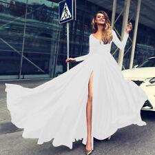 4b2e2afc3 Mujer Alto con Abertura Vestido Largo Cóctel Concurso de Belleza Fiesta  Noche